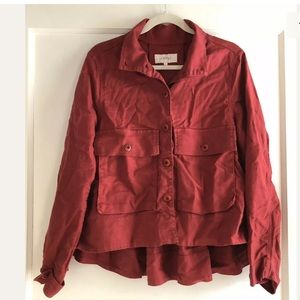 The Great. Linen Blend Button Down Jacket Size 3